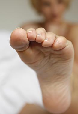 Heißer Fuß Sex am Telefon